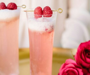 cocktail, pink, and raspberry image