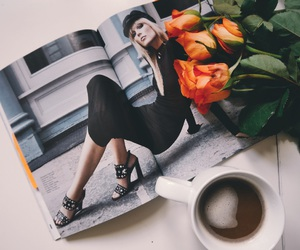 blog, coffee, and roses image