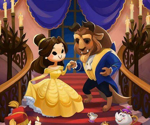 disney, beast, and beauty image