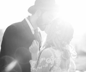 wedding, kiss, and love image