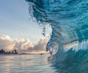summer, waves, and sea image