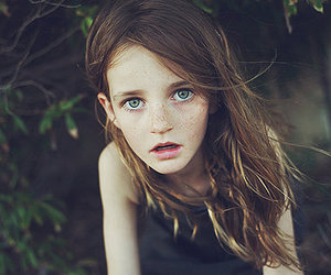 girl, freckles, and child image