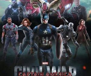 captain america, civil war, and tony stark image