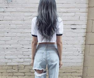 hair, grunge, and style image