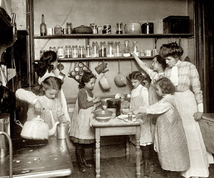 1910, kitchen, and cooking image