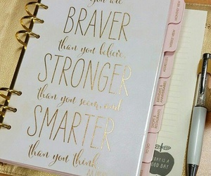 brave, gold, and planner image