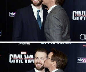 chris evans, kiss, and Marvel image