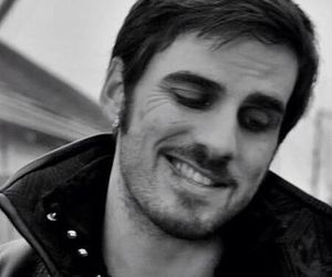 black and white, once upon a time, and killian jones image
