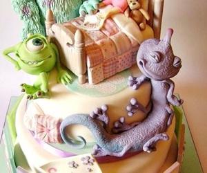 cake, disney, and art image