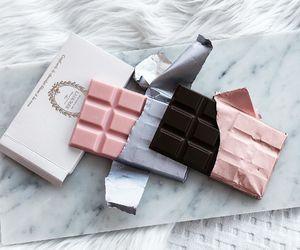 chocolate, pink, and food image