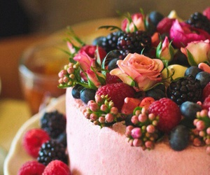 berry, cake, and delicious image