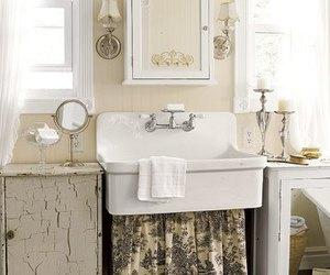 bathroom, vintage, and decor image
