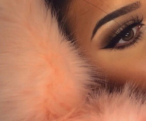 makeup, beauty, and fur image