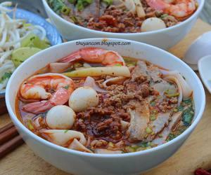noodles, pork, and shrimp image