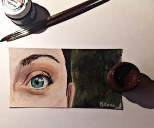 acrylic, art, and blue eyes image