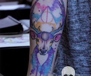 tattoo, harry potter, and tatto image