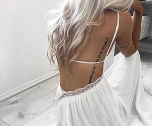 tattoo, hair, and dress image