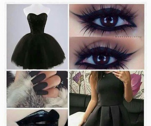 black, dress, and lips image
