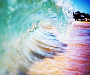 summer, waves, and beach image