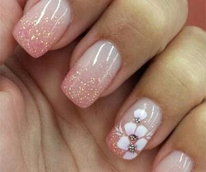 nails, pink, and art image
