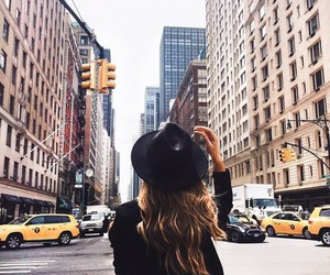 girl, city, and new york image