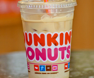 coffee, drink, and dunkin donuts image
