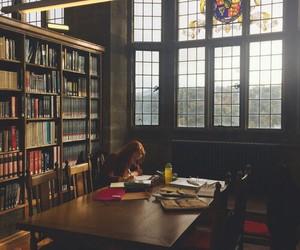 exam, hogwarts, and library image