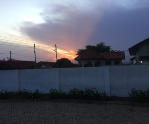 sunset, ghana, and nothing special image