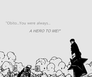 hero, kakashi, and obito image
