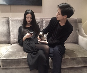 couple, asian, and black image