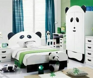 panda, room, and bedroom image