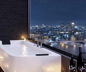 luxury, city, and bathroom image