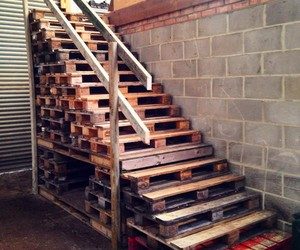 stairs, diy pallet stairs, and pallet stair designs image