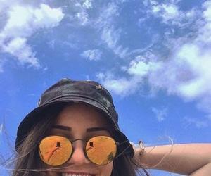 girl, icon, and sky image