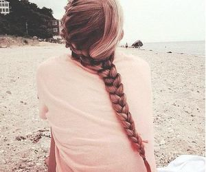 blond, braid, and diy image