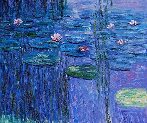 beautiful, flowers, and monet image
