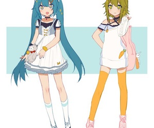 hatsune miku, vocaloid, and gumi image