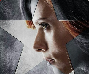 black widow, civil war, and Marvel image
