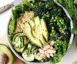 food, healthy, and green image