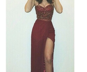 burgundy, maroon, and Prom image