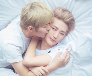 couple, asian, and gay image