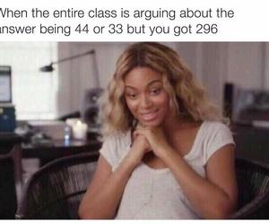 funny, beyoncé, and school image