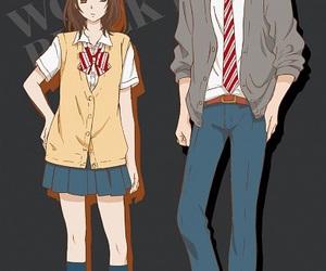 anime, wolf girl, and black prince image