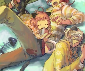 anime, harem, and manga image