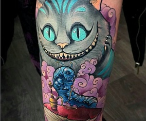 cat, tatto, and tattoo image