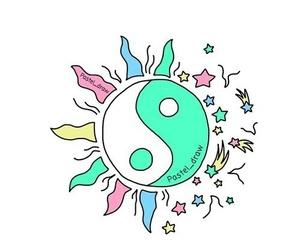 overlay, ying yang, and ᵀᴿᴬᴺˢᴾᴬᴿᴱᴺᵀˢ image