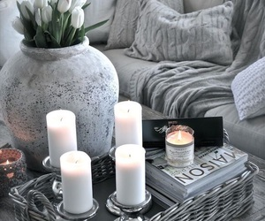 grey, home, and candle image