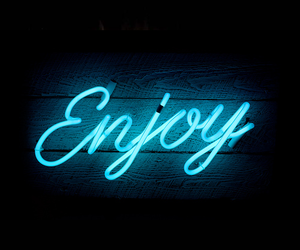 enjoy, blue, and neon image