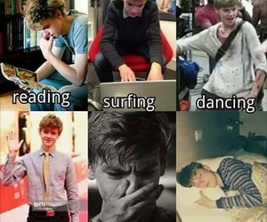 crying, dancing, and newt image