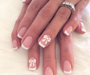 nails, french, and nail art image